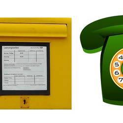 Briefkasten und Telefon [(c): Pixabay]